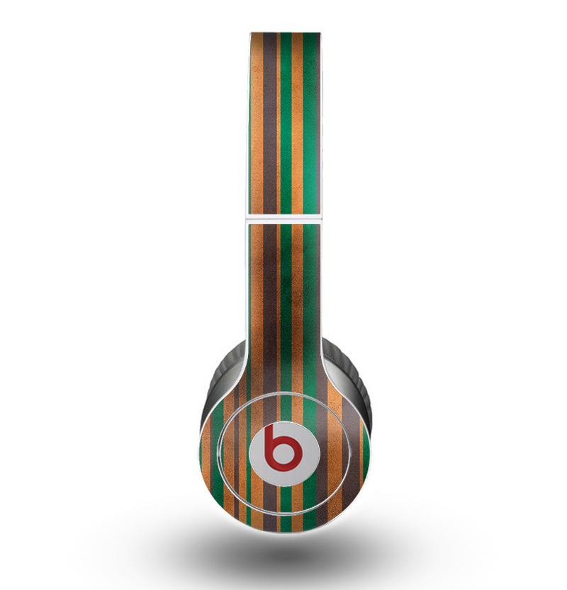 The Dark Smudged Vertical Stripes Skin for the Beats by Dre Original Solo-Solo HD Headphones
