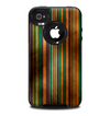 The Dark Smudged Vertical Stripes Skin for the iPhone 4-4s OtterBox Commuter Case