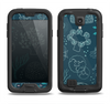 The Dark Teal Sea Creature Icons Samsung Galaxy S4 LifeProof Fre Case Skin Set