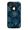 The Dark Teal Sea Creature Icons Skin for the iPhone 4-4s OtterBox Commuter Case