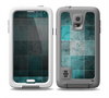 The Dark Teal Tiled Pattern V2 Skin Samsung Galaxy S5 frē LifeProof Case