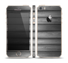 The Dark Vector Horizontal Wood Planks Skin Set for the Apple iPhone 5s