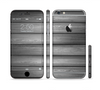 The Dark Vector Horizontal Wood Planks Sectioned Skin Series for the Apple iPhone 6