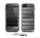 The Dark Vector Horizontal Wood Planks Skin for the Apple iPhone 5c LifeProof Case