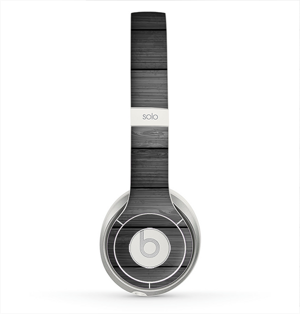 The Dark Vector Horizontal Wood Planks Skin for the Beats by Dre Solo 2 Headphones