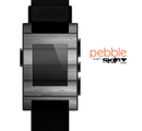 The Dark Vector Horizontal Wood Planks Skin for the Pebble SmartWatch