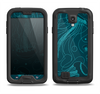 The Dark Vector Teal Jelly Fish Samsung Galaxy S4 LifeProof Fre Case Skin Set