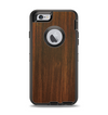 The Dark Walnut Stained Wood Apple iPhone 6 Otterbox Defender Case Skin Set