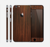 The Dark Walnut Stained Wood Skin for the Apple iPhone 6 Plus