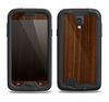 The Dark Walnut Wood Samsung Galaxy S4 LifeProof Fre Case Skin Set