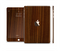 The Dark Walnut Wood Full Body Skin Set for the Apple iPad Mini 3