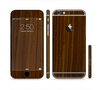 The Dark Walnut Wood Sectioned Skin Series for the Apple iPhone 6 Plus