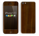 The Dark Walnut Wood Skin for the Apple iPhone 5c