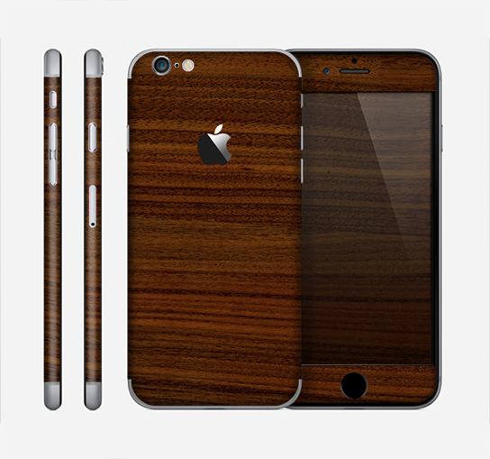 The Dark Walnut Wood Skin for the Apple iPhone 6