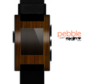 The Dark Walnut Wood Skin for the Pebble SmartWatch