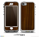 The Dark Walnut Wood Skin for the iPhone 5-5s NUUD LifeProof Case for the lifeproof skins