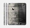 The Dark Washed Wood Planks Skin for the Apple iPhone 6 Plus
