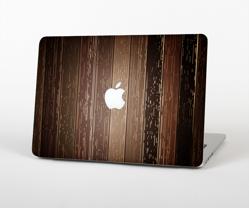 "The Dark Wood Texture V5 Skin Set for the Apple MacBook Pro 15"" with Retina Display"