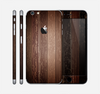 The Dark Wood Texture V5 Skin for the Apple iPhone 6 Plus