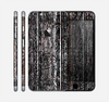 The Dark Wood with Floral Pattern Skin for the Apple iPhone 6 Plus