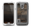 The Dark Wooden Worn Planks Skin for the Samsung Galaxy S5 frē LifeProof Case