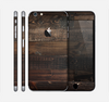 The Dark Wooden Worn Planks Skin for the Apple iPhone 6 Plus