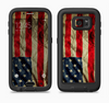 The Dark Wrinkled American Flag Full Body Samsung Galaxy S6 LifeProof Fre Case Skin Kit
