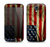 The Dark Wrinkled American Flag Skin For The Samsung Galaxy S4