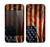 The Dark Wrinkled American Flag Skin for the Apple iPhone 4-4s