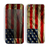 The Dark Wrinkled American Flag Skin for the Apple iPhone 5c