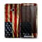 The Dark Wrinkled American Flag Skin for the HTC One