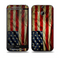 The Dark Wrinkled American Flag Skin for the HTC One M8