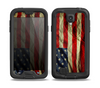 The Dark Wrinkled American Flag Skin for the Samsung Galaxy S4 frē LifeProof Case