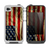 The Dark Wrinkled American Flag Skin for the iPhone 4-4s LifeProof Case