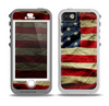 The Dark Wrinkled American Flag Skin for the iPhone 5-5s OtterBox Preserver WaterProof Case