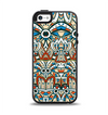 The Decorative Blue & Red Aztec Pattern Apple iPhone 5-5s Otterbox Symmetry Case Skin Set