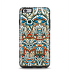 The Decorative Blue & Red Aztec Pattern Apple iPhone 6 Plus Otterbox Symmetry Case Skin Set