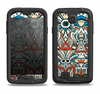 The Decorative Blue & Red Aztec Pattern Samsung Galaxy S4 LifeProof Fre Case Skin Set