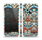 The Decorative Blue & Red Aztec Pattern Skin Set for the Apple iPhone 5