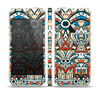 The Decorative Blue & Red Aztec Pattern Skin Set for the Apple iPhone 5s
