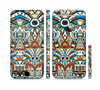 The Decorative Blue & Red Aztec Pattern Sectioned Skin Series for the Apple iPhone 6