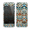 The Decorative Blue & Red Aztec Pattern Skin for the Apple iPhone 5s