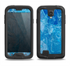The Deep Blue Ice Texture Samsung Galaxy S4 LifeProof Fre Case Skin Set