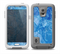 The Deep Blue Ice Texture Skin for the Samsung Galaxy S5 frē LifeProof Case