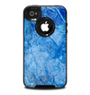 The Deep Blue Ice Texture Skin for the iPhone 4-4s OtterBox Commuter Case