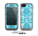The Delciate Trendy Blue Pattern V4 Skin for the Apple iPhone 5c LifeProof Case