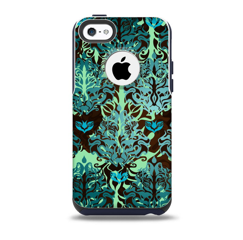 The Delicate Abstract Green PatternSkin for the iPhone 5c OtterBox Commuter Case