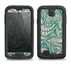 The Delicate Green & Tan Floral Lace Samsung Galaxy S4 LifeProof Nuud Case Skin Set