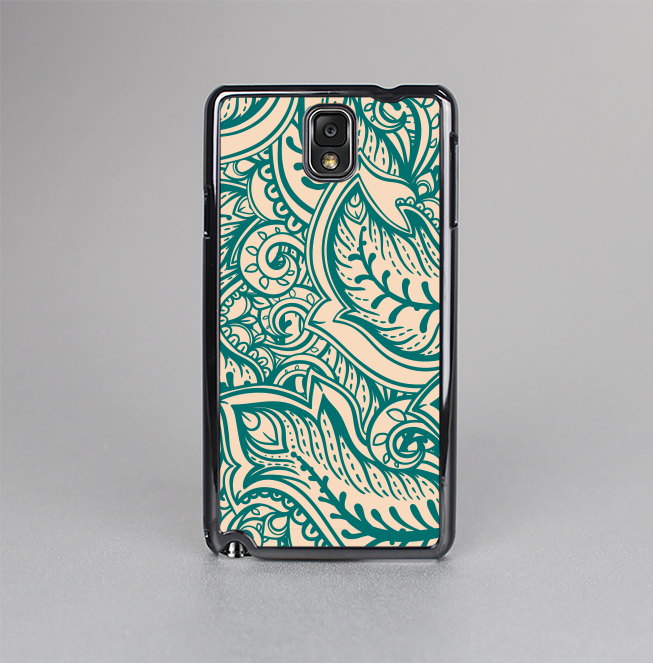 The Delicate Green & Tan Floral Lace Skin-Sert Case for the Samsung Galaxy Note 3