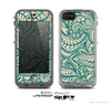 The Delicate Green & Tan Floral Lace Skin for the Apple iPhone 5c LifeProof Case